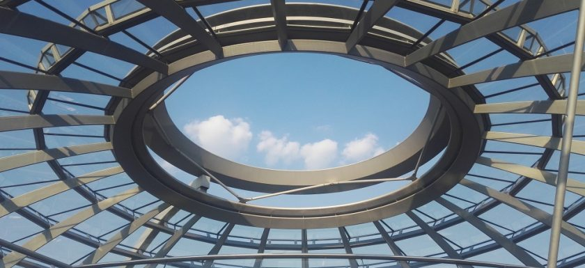 Picture: view of the Reichstagskuppel (Berlin).