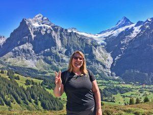 Recharging batteries Summer 2020. Katherine in the Jungfrau region.