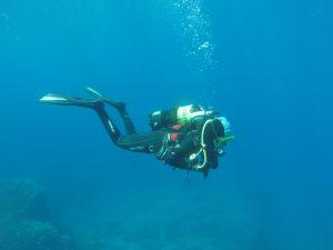 Diver Federica Scucchia in red sea